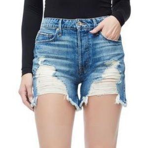 NWT Good American The Bombshell High Waist Shorts